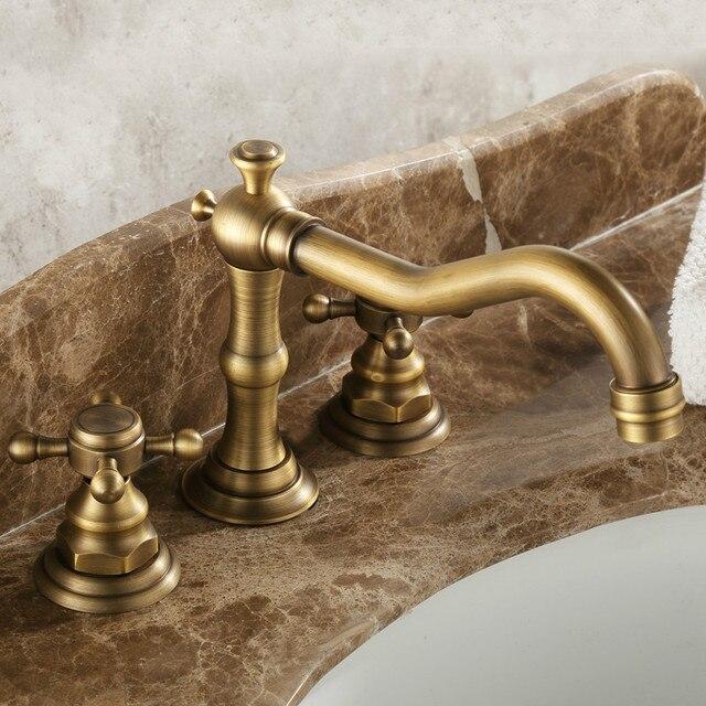 Antike Bad Deck Montiert Badezimmer Wasserhahn/Küchenarmatur Messing ...