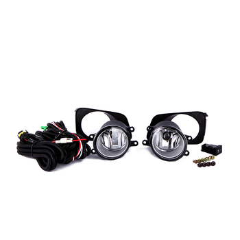 eOsuns halogen fog lamp for TOYOTA COROLLA AXIO/FIEL 2007, OEM design with harness, wiring kit, fog lamp cover and switch