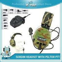 Z tac softair Military Tactical Headset Z111(MC) Active Volume zSordin Peltor Headset Hearing Protector Headset PTT Midland Z112