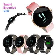 V06 Smart Band Приборы для измерения артериального давления трекер Для женщин здоровья смарт-сердечного ритма аллергия алкоголь Фитнес трекер Браслет Смарт часы
