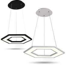 New Polygonal Office pendant lights Restaurant hanglamp luminaire suspendu Modern Simple Meeting Room DIY hanging lamp