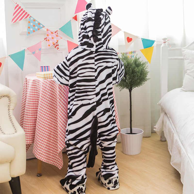 זברה סרבל תינוקות פיג 'מה Kigurumi בעלי החיים Cosplay תלבושות ליל כל הקדושים משפחת פיג' מות נשים