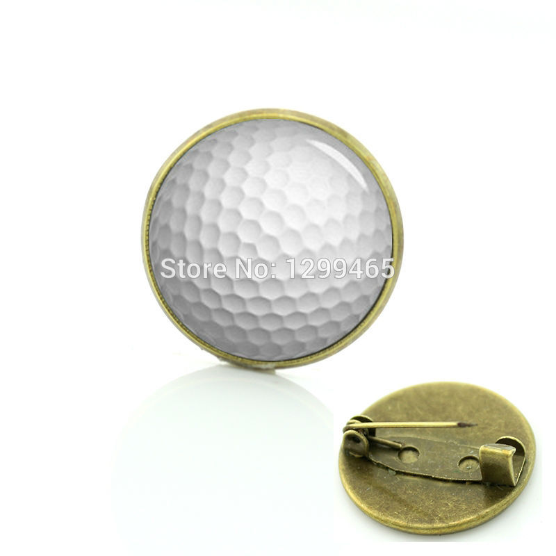 2017 Brooches Brooch Glass Round Brooch Unisex Pin Legend Golf Badge New Elegant Design Vintage Photo Gifts For Father C 1241