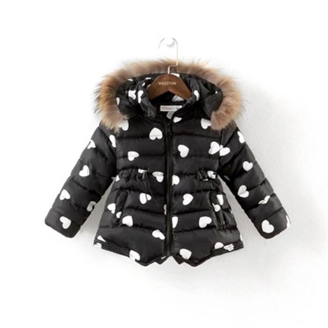 Varejo 2016 Meninas Grossas de Algodão-Acolchoado Roupas de Inverno Jaqueta de Inverno Da Marca de Moda Crianças Outerwear Crianças Das Crianças Casacos AA1735