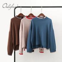 Ordifree Turtleneck Sweater Women Knitted Pullover 2017 Autumn Winter Oversized Ladies Sweater Women Jumper Pull Femme