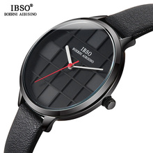 IBSO Original Watches Women Designer Leather Wrist Ladies Creative Dial Quartz Watch For 2019 Reloj Mujer #6609