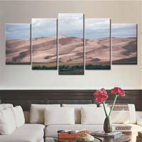 5 Pieces Wall Pictures High Mountains Secnery Wall Decorative Painting Canvas Art Prints For Living Room