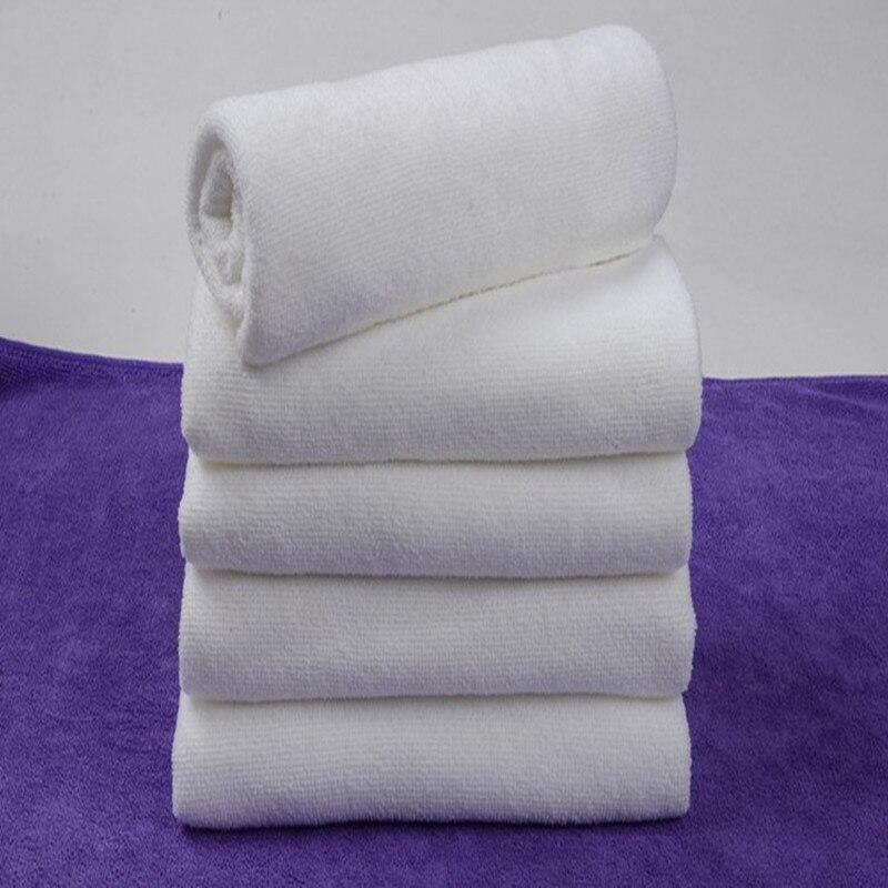 2655 cm portatile bianco morbido tessuto in microfibra asciugamano viso telo da bagno salviette