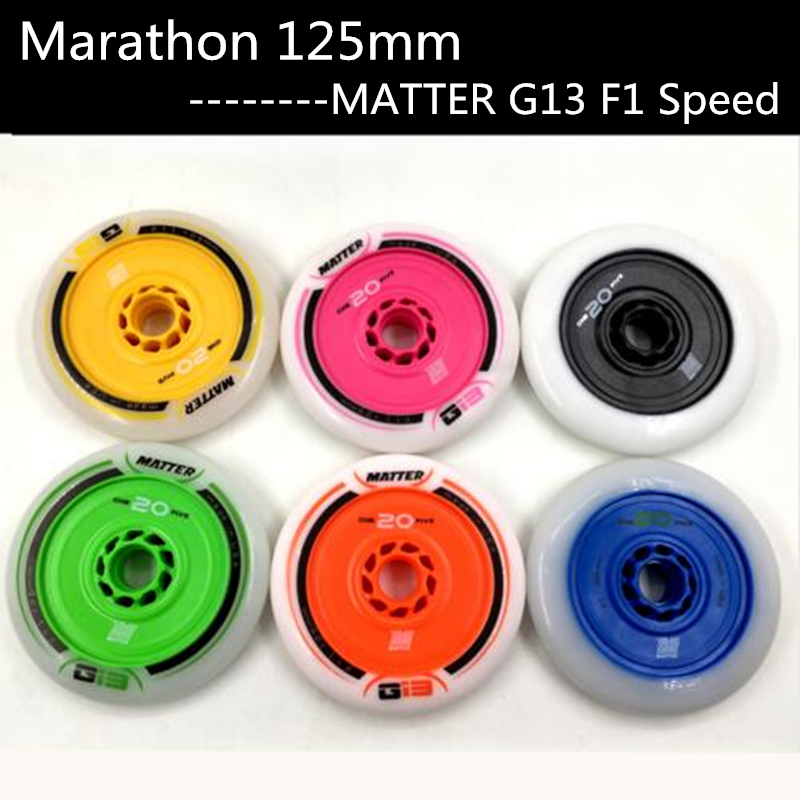 MATTER Gi3 F1 125mm Black Blue Yellow Green Orange Inline Speed Skates Wheel G13 Marathon One 20 Five for Powerslide for MPCMATTER Gi3 F1 125mm Black Blue Yellow Green Orange Inline Speed Skates Wheel G13 Marathon One 20 Five for Powerslide for MPC