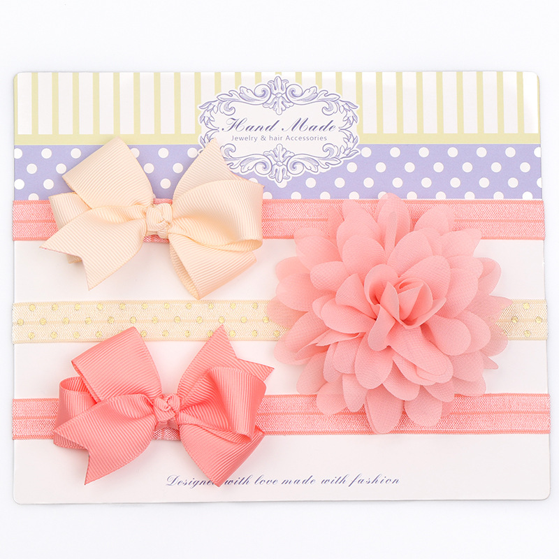 3pcs/set Chiffon Floral Baby Headband Girl Hair Accessories Infant Baby Hair Band Bowknot Headband for Baby Photography Birthday
