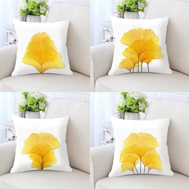 Simple Yellow Flower Cushion Color Print Soft Plush Fabric Extraordinary Fabric For Decorative Pillows