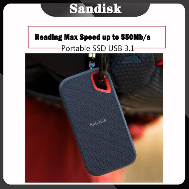Портативный SSD накопитель SanDisk USB Type C 250 ГБ 500 Гб внешний жесткий диск внешний ssd ТБ 500 м/с для ноутбука настольного ПК компьютера