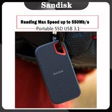 سانديسك المحمولة SSD USB نوع C 250GB 500GB قرص صلب خارجي الخارجية ssd 1 تيرا بايت 500 متر/الثانية لأجهزة الكمبيوتر المحمول حاسوب شخصي مكتبي الكمبيوتر