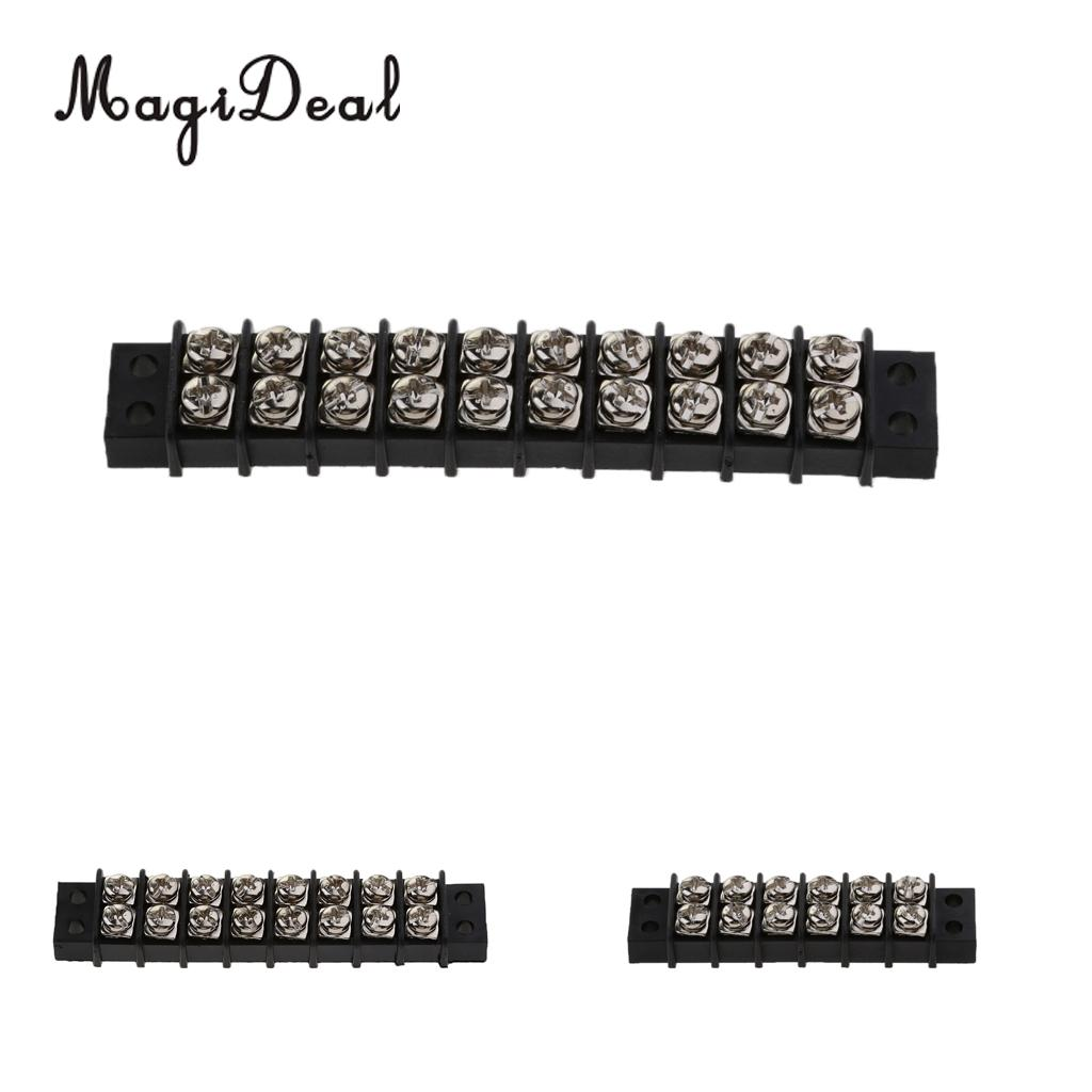 Magideal Durable 6 8 10 Gang Screw Terminal Block Nickel Plated Wiring Board Busbar Brass Contacts For Marine Rowing Kayak Canoe Boats Dinghy Acce In From Sports
