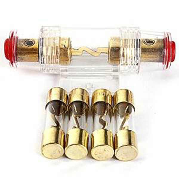 8 מד AGU זהב-מצופה נתיך בעל עם 60 Amp נתיך רכב אודיו נתיכים בלוק VEA18 P