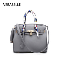VERABELLE 8 Colors 2017 Women Large Capacity Purses And Handbag With Ribbons Lock Totes PU Leather