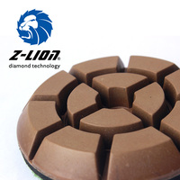 Z Lion 3 Inch Granite Floor Polishing Pad Resin Diamond 75mm Stone Flooring Tools For Granite