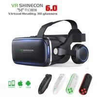 VR Shinecon 6 0 3D Glasses Virtual Reality Goggles Google Cardboard VR BOX 2 0 VR