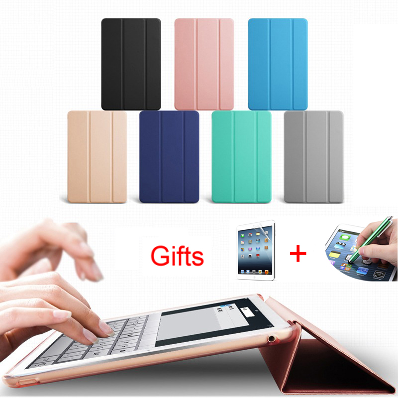 For ipad 9 7 case PU Leather Front Cover Ultra thin For ipad 2018 case triple fold ipad 2017 case smart sleep protection cover in Tablets e Books Case from Computer Office