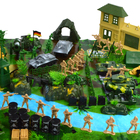 Soldiers Set Military Toys Model of Helicopter Tank Soldiers The Artillery Missile Toy for Boy, Army Men Playset in 130 Pieces