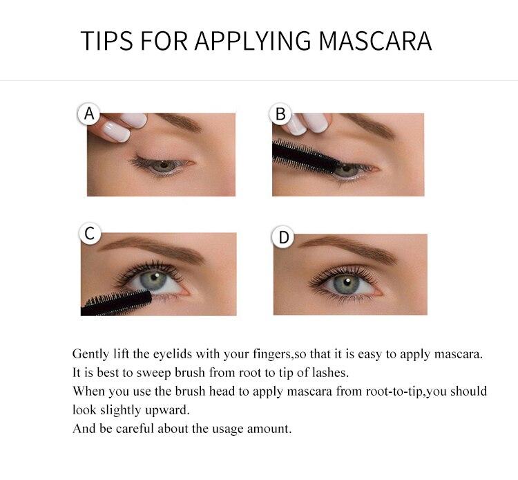 Yanqina 4d Silk Fiber Eyelash Mascara Waterproof Long Lasting Thick