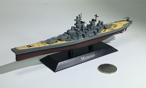 1:1250 World War II the United States Iowa class battleship Missouri model Alloy warship model Collection model стоимость
