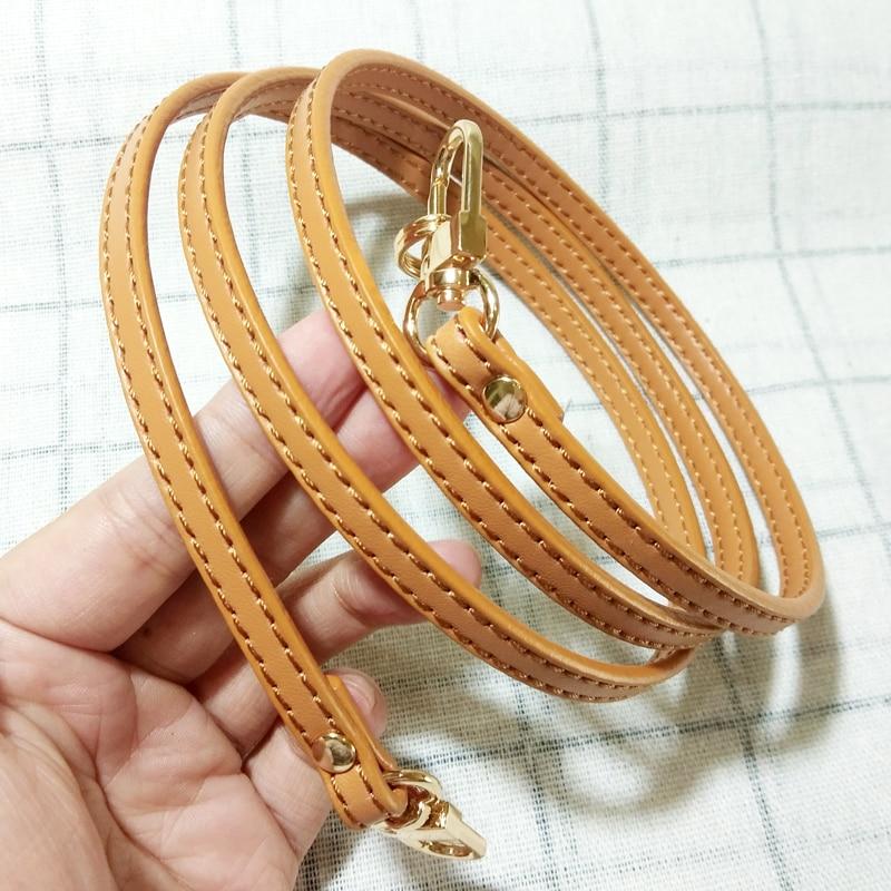 Wholesale 20PCS DIY Genuine Leather Bag Strap 0.7*120CM Bag Accessories For Brand Bag Golden Hardware Good For Resell