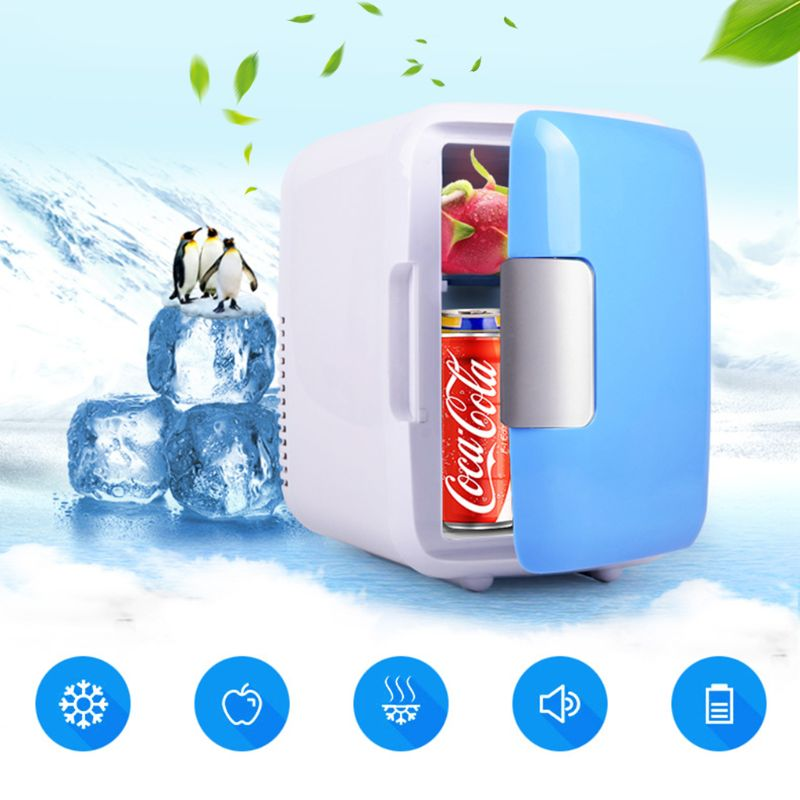 Dual use Mini Fridge Ultra Quiet Car Use Refrigerator Low Noise Freezer Cooling Heating Box