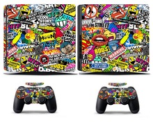 Bombing N262 PS4 Slim Skin Sticker Vinyl Cover