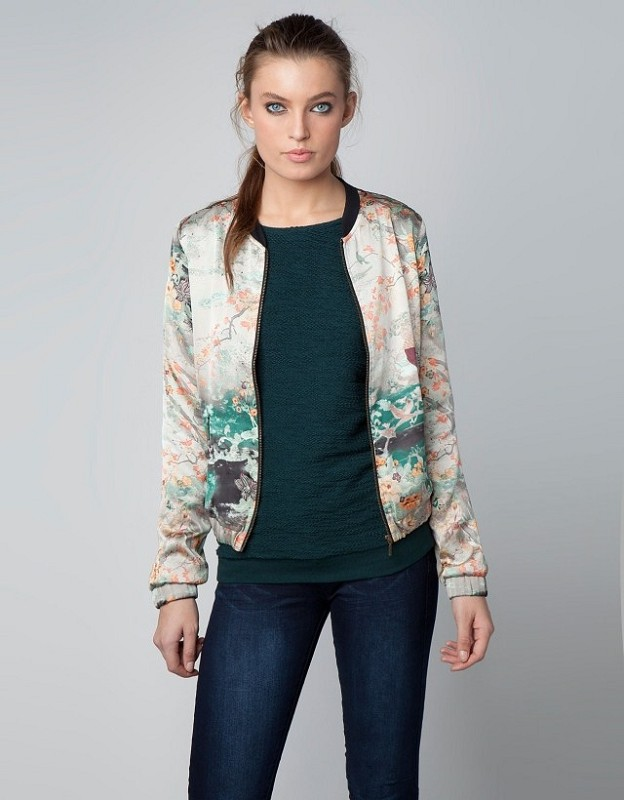 Ladies Silk Bomber Jacket - JacketIn