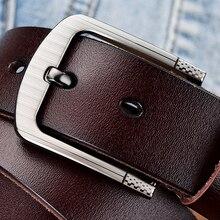 [DWTS] belt male fashion leather men genuine strap luxury pin buckle mens Cummerbunds ceinture homme