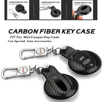 Car Styling Accessories Car ABS Key Carbon Fiber Case Shell Key Chain Key Cover Key Bag