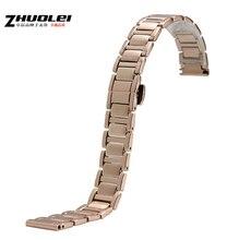 14 mm 16 mm venda de reloj de acero inoxidable correa de reloj