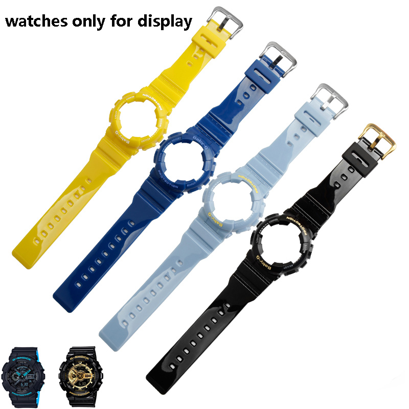 PEIYI Silicone Watchband Replacement Casio BABY-G BA-110 111 112 3A 4A2 Rubber Strap Sports Waterproof Lady Watch Chain