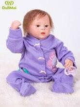 2018 Novo design de 46 cm lifelike bonecas bebe reborn bonecas de vinil silicone macio real toque quente brinquedos de presente de Natal dollmai