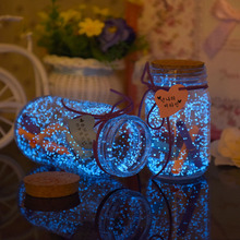 10g Glow In The Dark Luminous Noctilucent Sand Paint Fluorescent Party DIY Star Wishing Bottle Fluorescent Particles Kids Gifts (China)