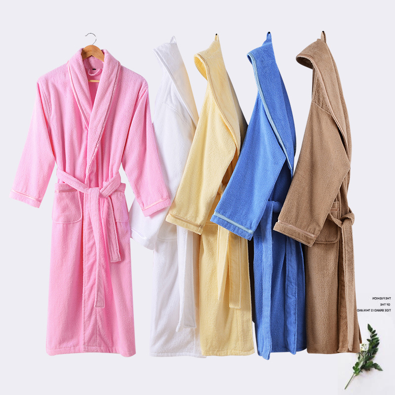 Cotton Men s Bath Robe Long sleeve Kimono Pajamas For Men Bathrobe Male Spa Night Dress