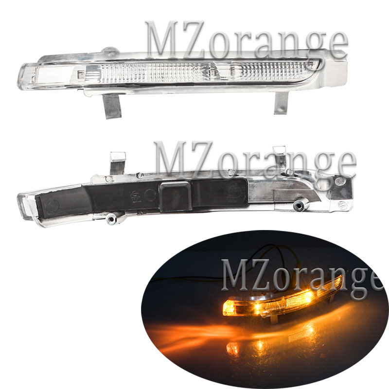 MZORANGE Rearview Mirror Light LED for Skoda Octavia SUPERB 2009 2013 Turn signals Light wing Repeater