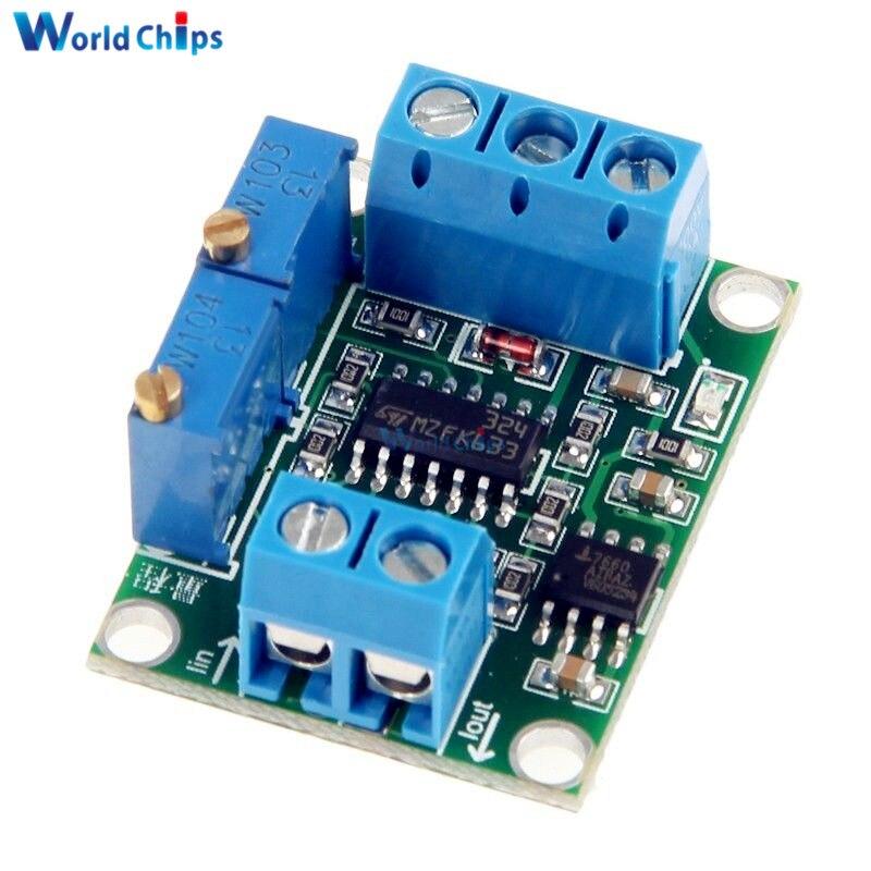 Newest DC 7V-35V 0-2.5V 3.3V 5V 10V 15V Current to Voltage 4-20mA to 0-5V Isolation Transmitter Signal Converter Module Top