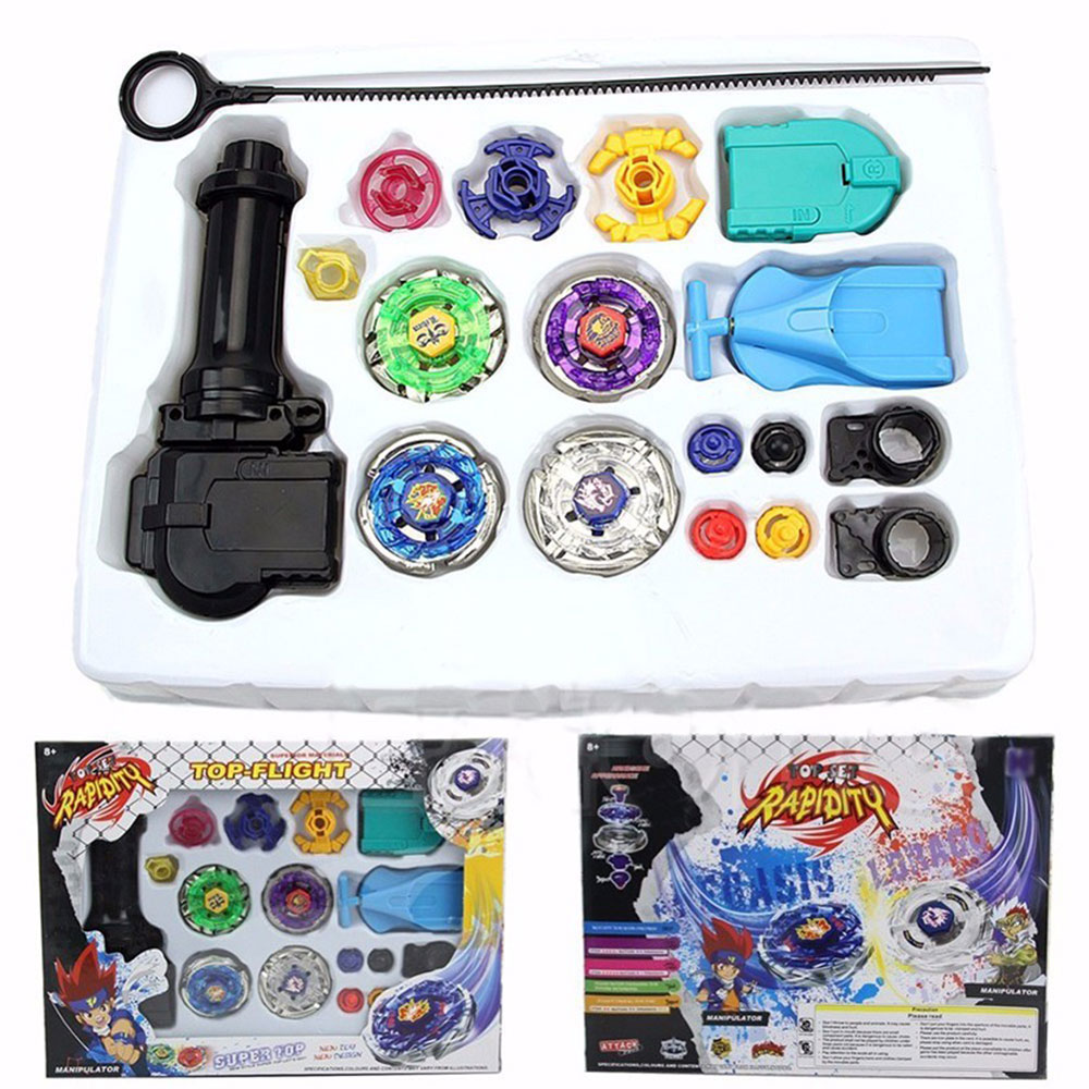 New Spinning Top Beyblade Alloy Gyro Toy Gyro Launch Game Battle Gyro Metal Fusion Children Gifts Classic Toys For Children Gift