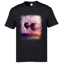 Electronica Music Men T Shirts So Far So Close Fantasy Balloon Printed On T-Shirts Mens Retro Tshirts XXL Black Hipster Tees цена в Москве и Питере