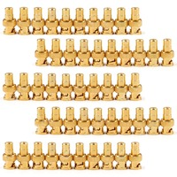50PCS Gold Plated BNC Female To RCA Phono Male Adapter For Dvr CCTV Video Camera