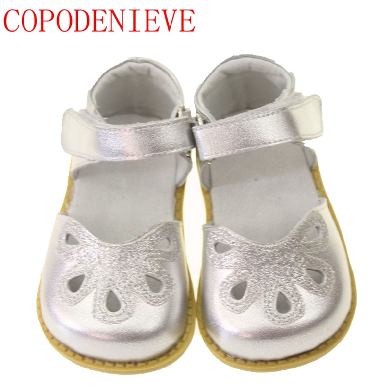 COPODENIEVE Children Shoes Girls Princess Sandals Girl Shoes Kids Sandals Fashion Plus Size Leather Child Sandal