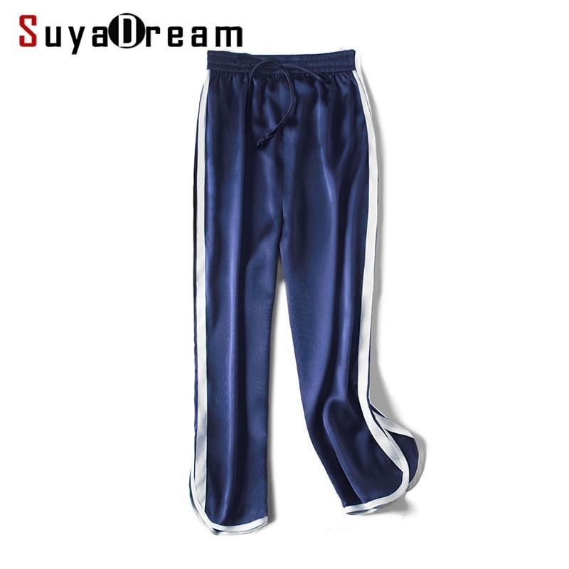 Женские брюки, 19 мм, 100%, натуральный шелк, сатин, зеленые, с высокой талией, штаны, OL, длина до середины икры, брюки, 2019, для офиса, леди, весна, ле...