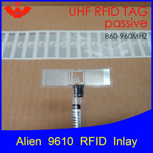 Метка Диапазона UHF RFID Метка Alien 9610 инкрустация 915 МГц 900 МГц 868 МГц 860-960 МГц Higgs3 EPC Gen2 ISO18000-6c смарт-карты пассивные RFID теги этикетки