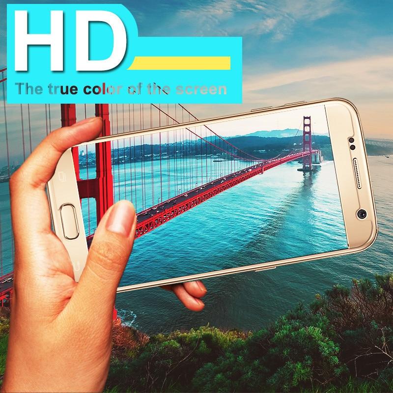 ON SALE 9 H Memperkuat Pelindung Layar Film Untuk Samsung A3 A5 A7 A6 - Aksesori dan suku cadang ponsel - Foto 4