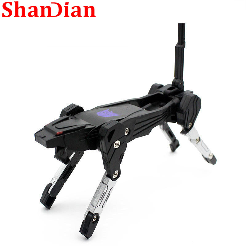 SHANDIAN Hot Sale U Disk 32g Special Offer Cartoon Character U Disk 16g Cool Transformation Robot Gift U Disk 64G Free Shipping