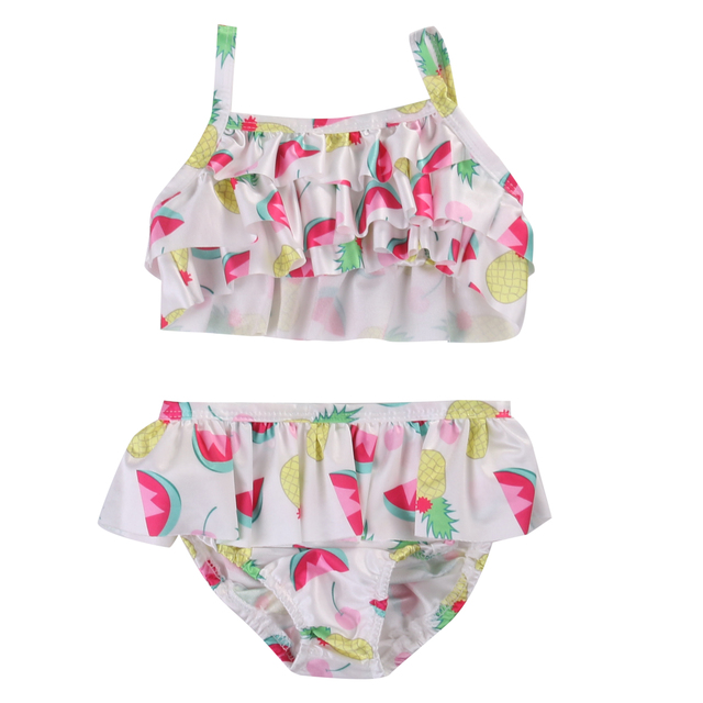 cb46e7408f8 Summer 2017 Toddler Kids Baby Girls Fruit Tankini Bikini Swimwear Swimsuit  Bathing Suit Beachwear