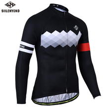 SIILENYOND 2019 Pro Cycling Jersey Long Sleeve Mountain Bicycle Cycling Clothing Quick Dry Breathable MTB Bike Cycling Clothes