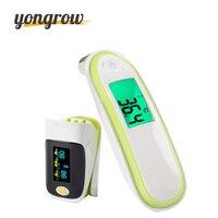 Yongrow Medical Health Care Infrared Thermometer Baby Adult Ear Oximeter Fingertip SPO2 Pulse De Pulso De